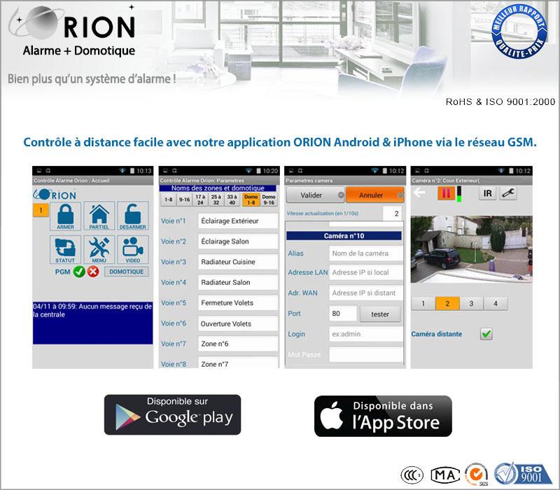 Kit alarme maison sans fil gsm rtc meian orion 433mhz sans fil - Prix kit alarme verisure maison ...