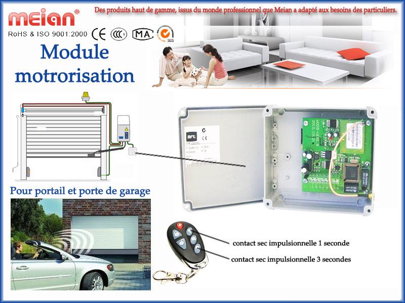 Module pour motorisation portail porte garage pour for Digicode sans fil pour porte de garage