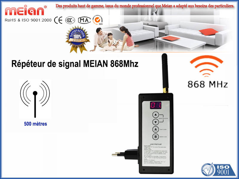 Amplificateur de signal radio transmission s curis e 868 mhz for Amplificateur de signal cellulaire maison