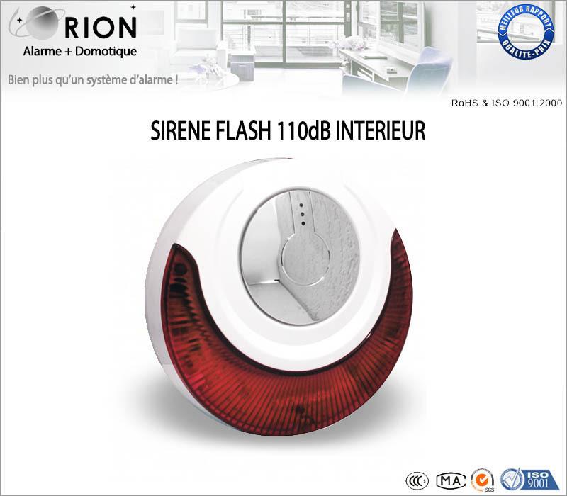 sir ne flash int rieure sans fil 100 db pour alarme meian. Black Bedroom Furniture Sets. Home Design Ideas