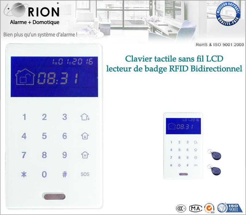 lecteur de badge rfid clavier code sans fil bidirectionnel. Black Bedroom Furniture Sets. Home Design Ideas