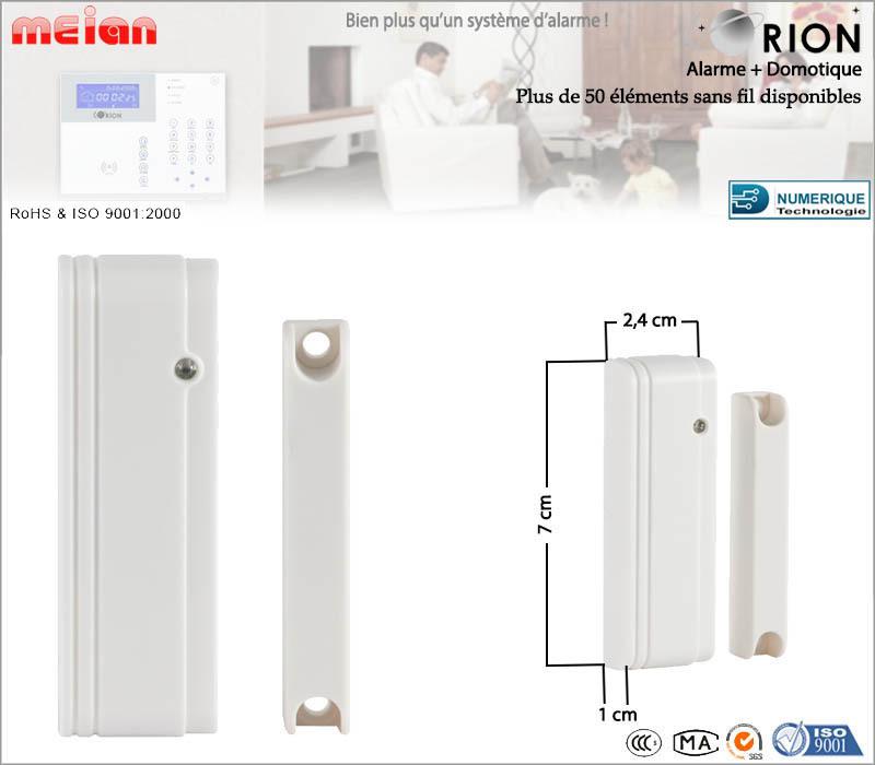 mini d tecteur d 39 ouverture sans fil pour porte fen tre. Black Bedroom Furniture Sets. Home Design Ideas