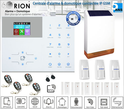 Kit alarme maison sans fil ORION IP2 - IP/GSM