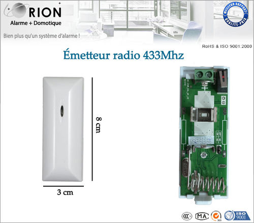Elviray Accessoires dalarme sans Fil de Bouton de Secours de Bouton de SOS 433MHz pour Le syst/ème dalarme /à la Maison Intelligent de PSTN de GSM